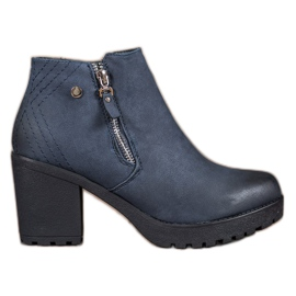 SHELOVET blue Navy Boots On The Platform