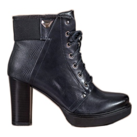 Daszyński blue Laced High Heels