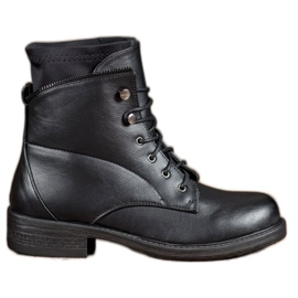 Bestelle black Classic Lace-up Booties