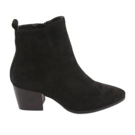 Suede boots Black Filippo 922