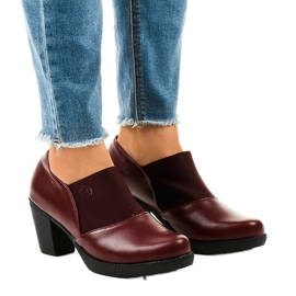 Gemre red Maroon slip-on boots on the TH-F198 post