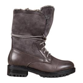 Seastar Boots With Woolen Upper grey
