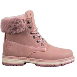 MCKEYLOR brocade boots pink