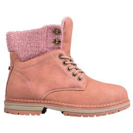 SHELOVET Trappers With Glitter pink