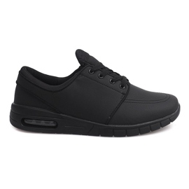 7765-1 Black running sports shoes