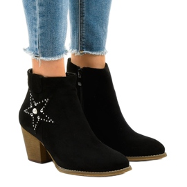 Black suede boots on the post star L88-163