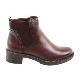 Ankle Boots Jodhpur Boots Filippo 957 burgundy
