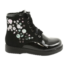 Boots varnished sequins Evento 1433 black