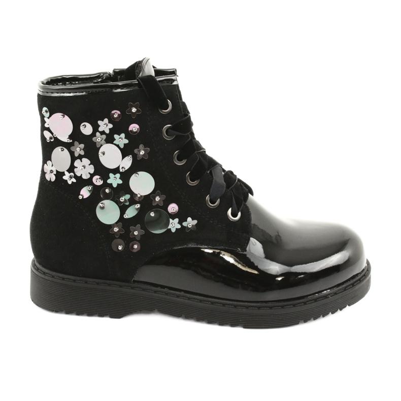 Boots varnished sequins Evento 1433 black