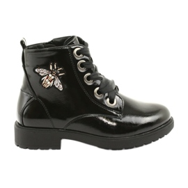 Sergio Leone 530 varnish boots black