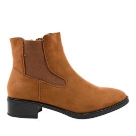 1552 Brown Flat Women's Boots