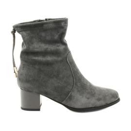 Daszyński SA58 suede high heels boots grey