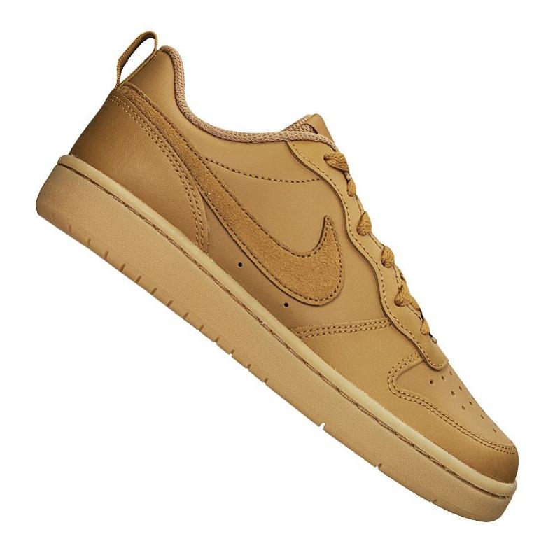 Nike Court Borough Low 2 (GS) Jr BQ5448-700 shoes brown