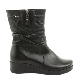 Gregors Black Wedge fur boots 792