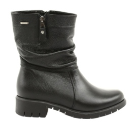 Gregors Black Boots with fur 793 black