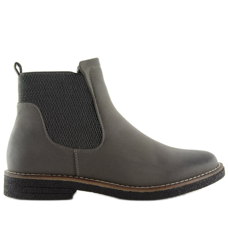 Gray Chelsea boots for women 6768-PA Gray grey
