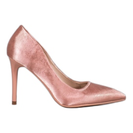 SHELOVET Satin Stilettos pink