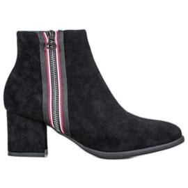 Filippo Boots With Decorative Zipper black