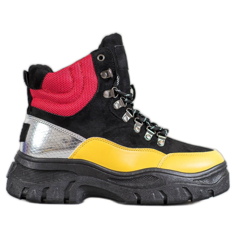 Lace-up VICES boots multicolored