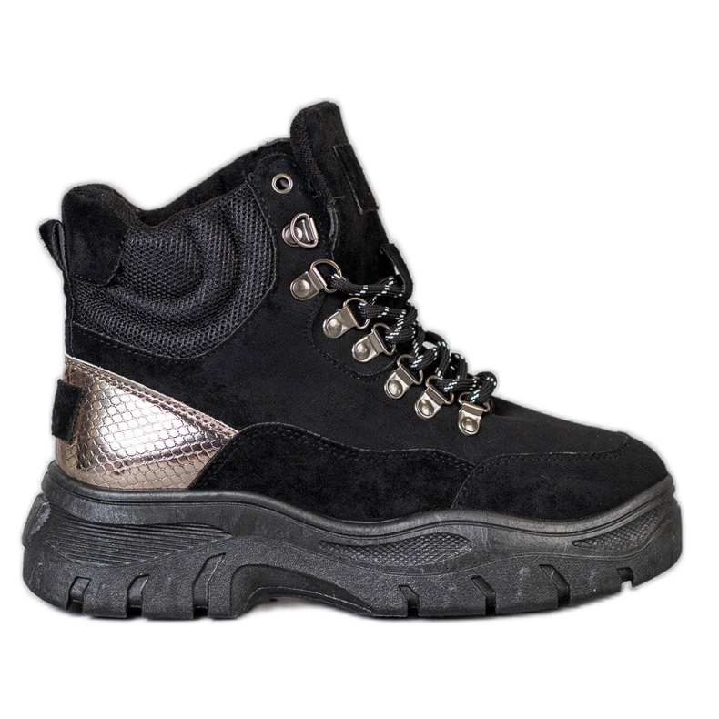 Lace-up VICES boots black