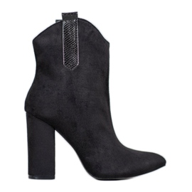 Suede Cowboy Boots VICES black