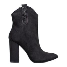 VICES suede cowboy boots black