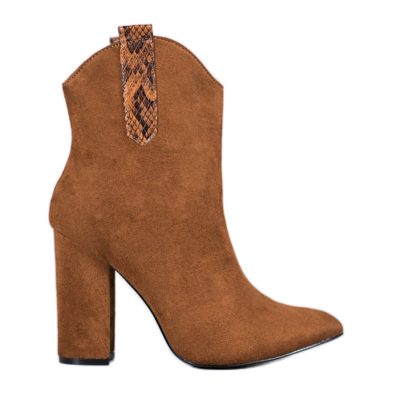 VICES suede cowboy boots brown