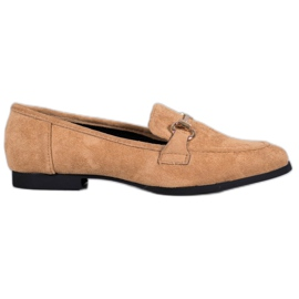 VICES suede moccasins brown
