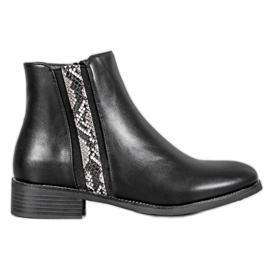 Filippo Fashion Boots Snake Print black