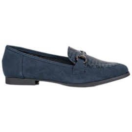 Snake Print VICES moccasins blue