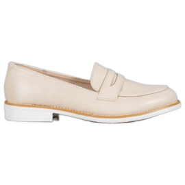VICES beige moccasins brown