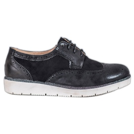 Suede shoes VICES black