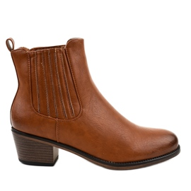 TX-3200 slip-on brown ankle boots