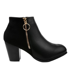Black ankle boots with A166-1 zipper