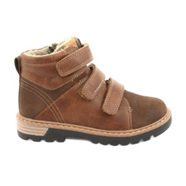 Timberki Boots with Velcro American Club GC40 brown