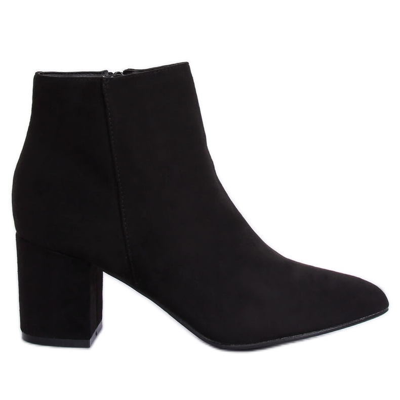 Black high-heeled boots Q1AX608-1 Black