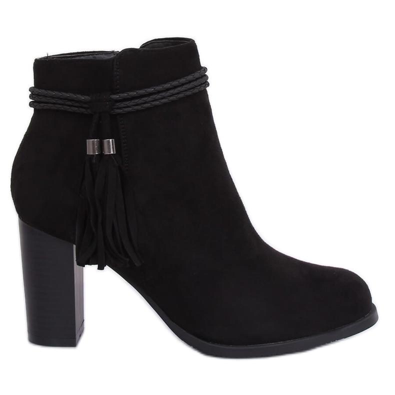 Black high-heeled boots VQ-31 Black