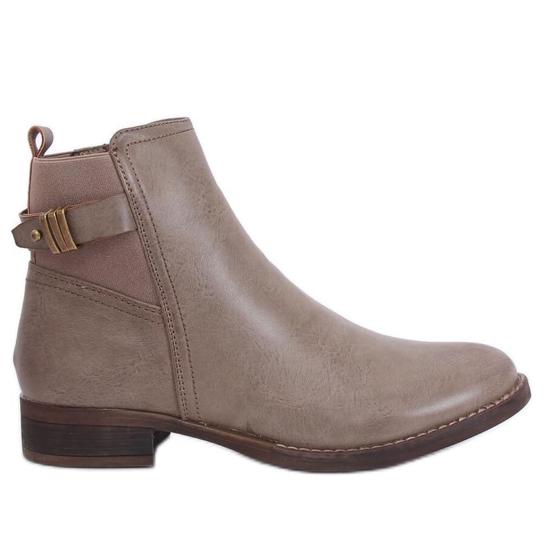 Beige Jodhpur boots for women 1304 Khaki