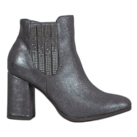 Kylie Elegant Booties On A Bar grey