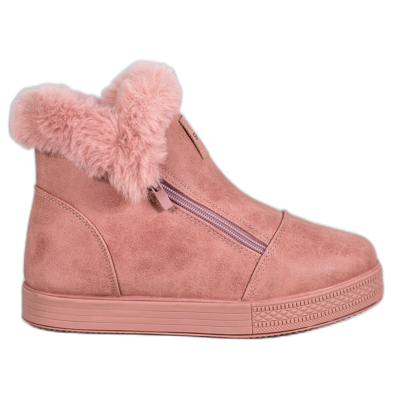 SHELOVET Booties With A Zipper pink