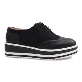 Black Paulette lace-up shoes