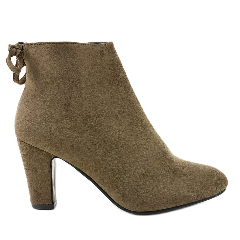 Green suede ankle boots on the W852 post