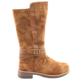 American Club GC31 long boots with jets brown
