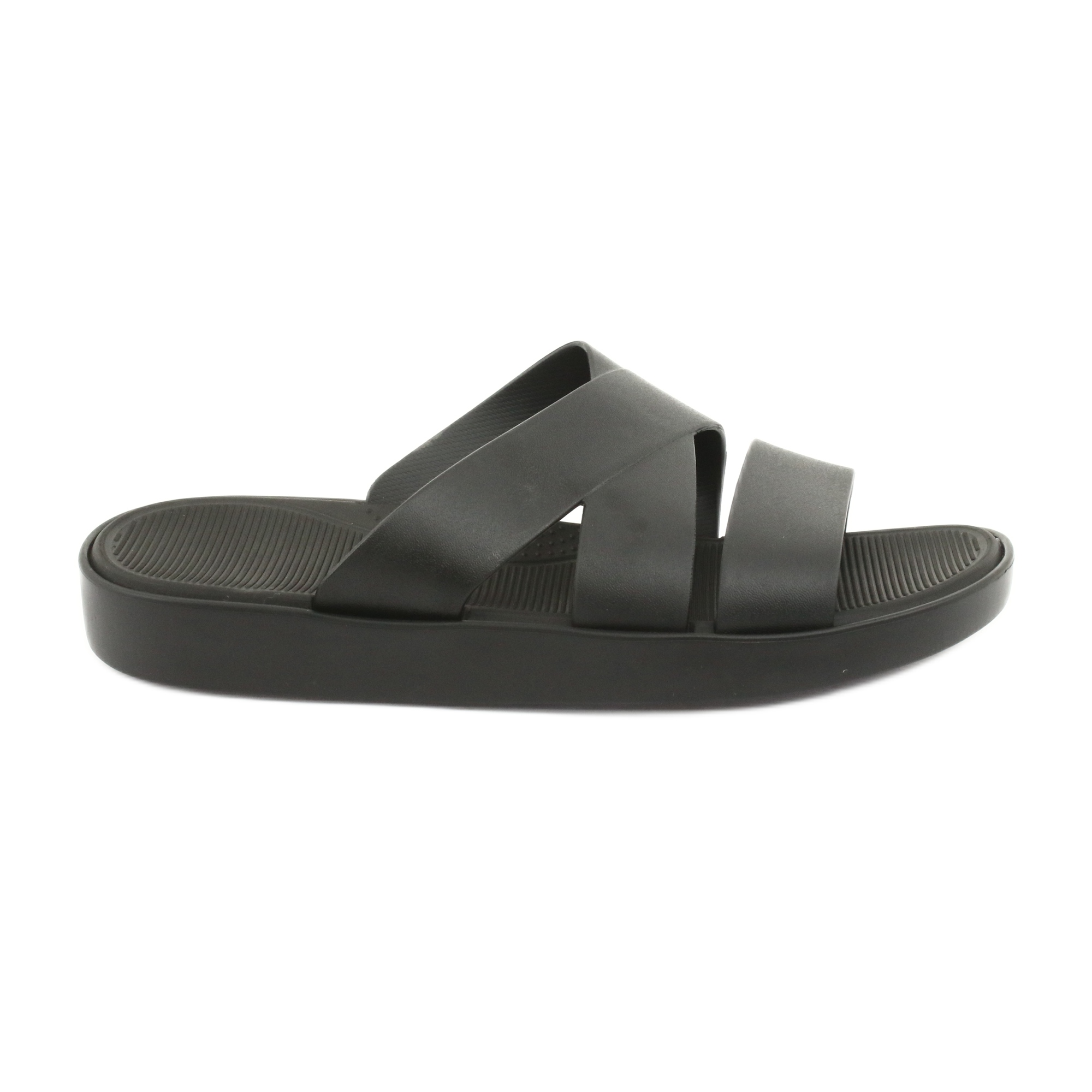 black platform slippers