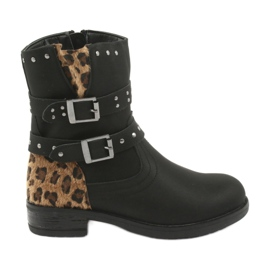 Black Leopard boots American Club jets
