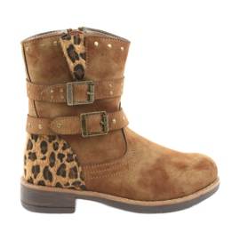 American Club Leopard boots American brown jets
