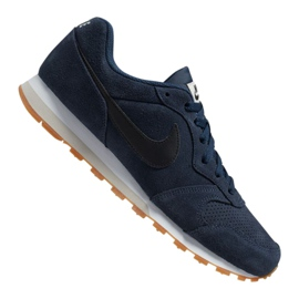 Nike Md Runner 2 Suede M AQ9211-401 shoes navy