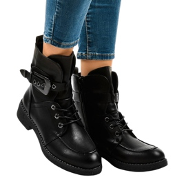 Black boots with 404 buckles