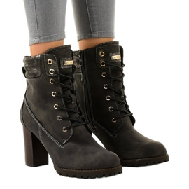 Gray high ankle boots on the 878-GA post grey