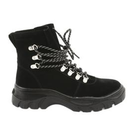 Tied black trapeze shoes Sergio Leone 729